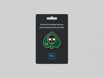 Enamel Pin Badge Mockup
