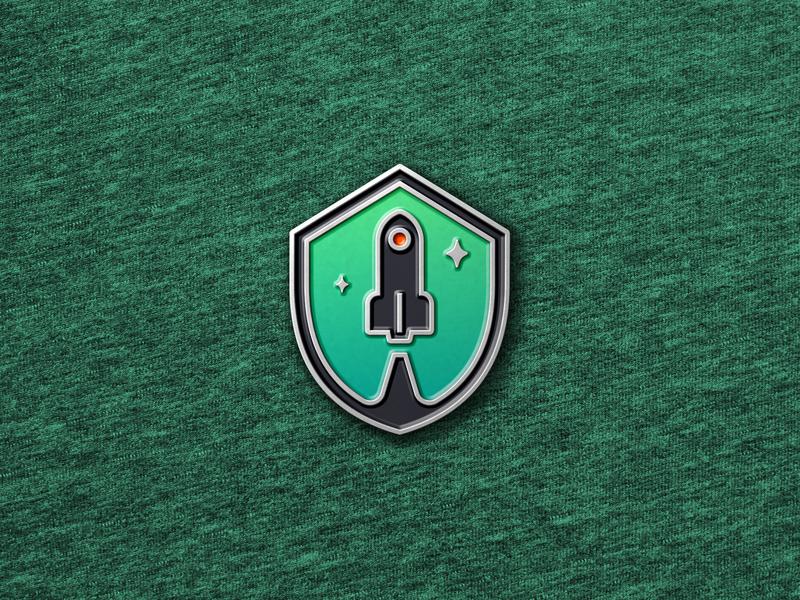 Enamel Pin Badge Mockup space launch rocket enamelpin flat design icon logo minimal vector download mockup realistic branding mockup psd photoshop illustration logodesign graphicdesign enamel pin badge