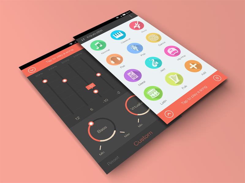 Debut app design music