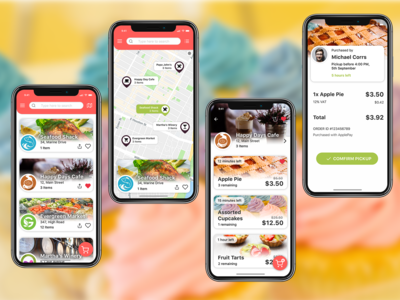 App Concept for Ordering Food