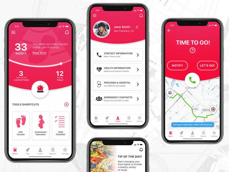 Pregnancy App Concept pregnancy app pregnancy user inteface uiuxdesigner design ux iphone app iphone app design app ui  ux design ui  ux ui ui desgin mobile uiux mobile app