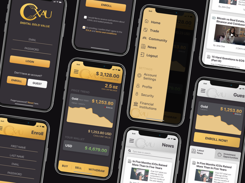 Gold-based Cryptocurrency Ap by Kosala Liyanage on Dribbble