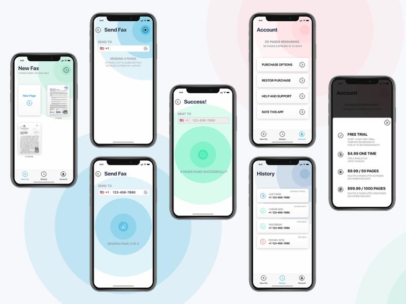 Fax App Concept ux iphone app design user inteface iphone app uiuxdesigner app design mobile app ui ui  ux ui  ux design ui desgin mobile uiux