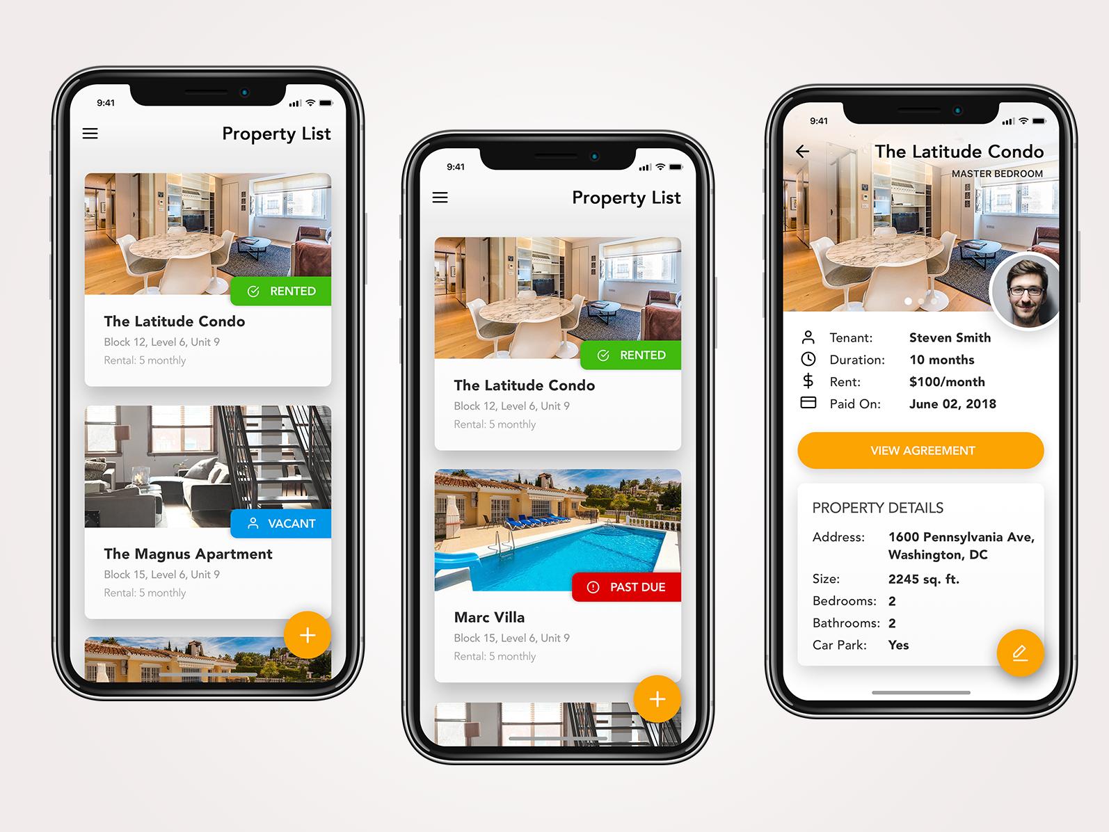 Property Listing Management App Concept iphone app design iphone app user inteface ux ui uiuxdesigner design app ui  ux design ui  ux ui desgin mobile uiux mobile app