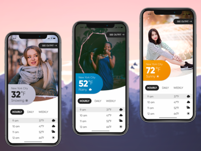Weather-based Fashion App Concept