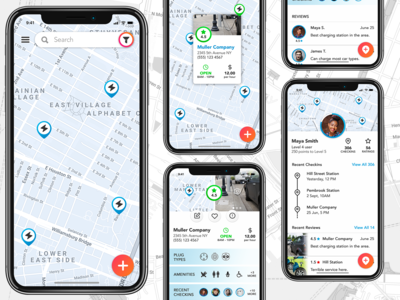 Electric Car Charging Station App Concept