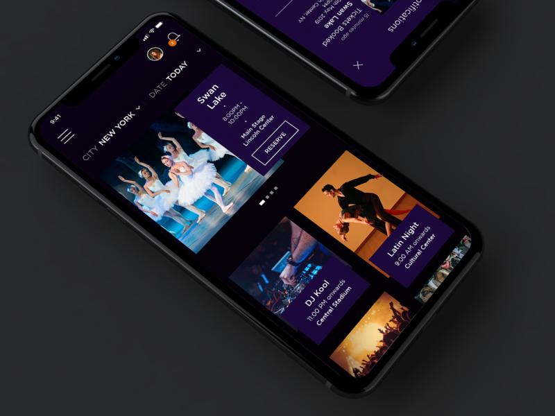 Nightlife App Concept nightlife dark theme dark app dark ui iphone app design app iphone app design user inteface uiuxdesigner ux ui ui desgin ui  ux ui  ux design mobile app mobile uiux