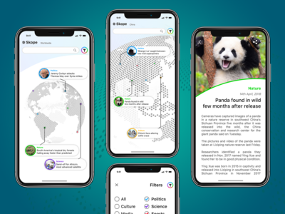 Map-based News App Concept