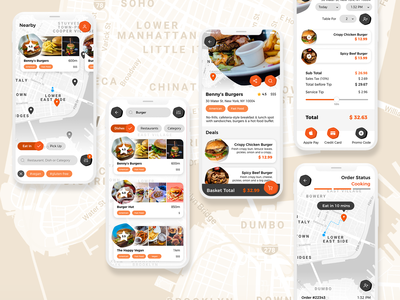 Food Ordering App Concept