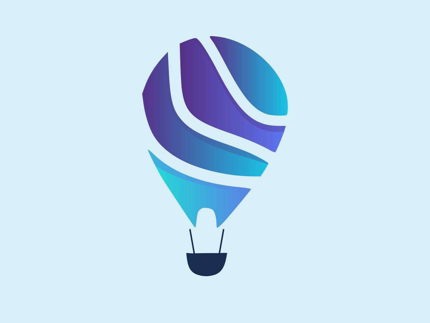 Hot Air Balloon Logo icon design vector logo illustration gradient design gradient icon air balloon hot air balloon