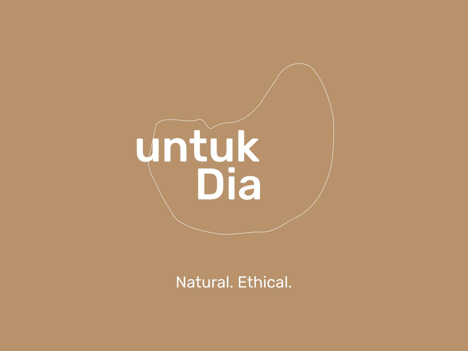 untuk Dia - Natural & Ethical Fashion Brand logotype wordmark branding fashion brand logo fashion
