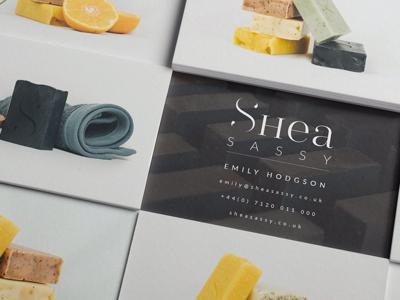 Shea Sassy Business Cards photography logo graphic design brand identity design identity design branding