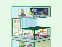 WIP - CBRE building illustration B