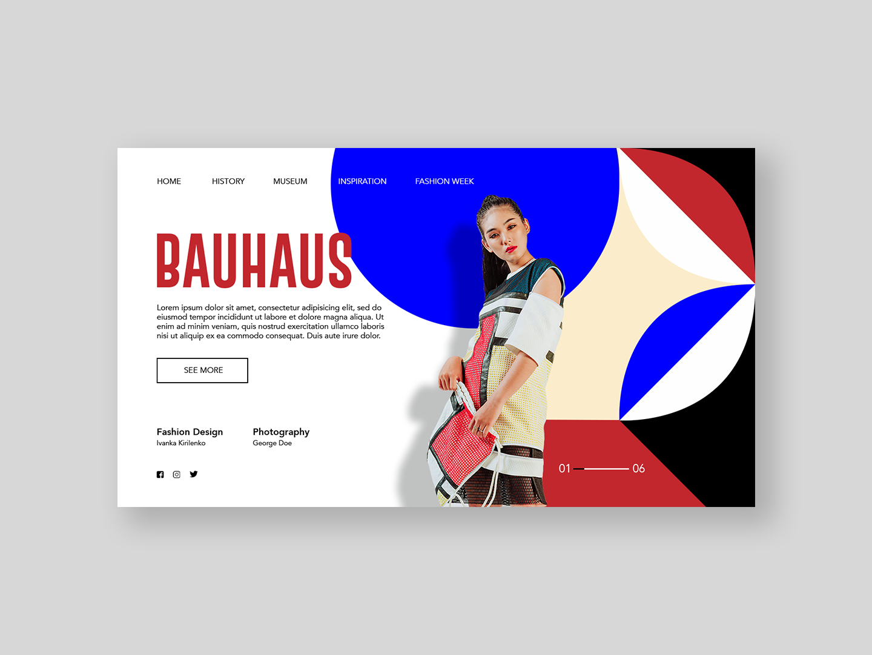 Bauhaus Fashion bauhaus design art photography fashion stylish minimal interactive ui desktop web design