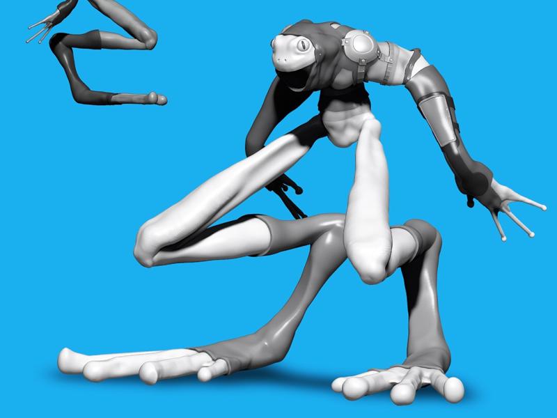 Sapo Guard procreate juliosalvat scifi conceptart digital3d 3d fantasy creature creaturedesign conceptdesign characterdesign uv maya pixologic sculpt substancepainter zbrush