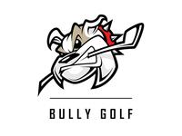Bully Golf Mascot Logo