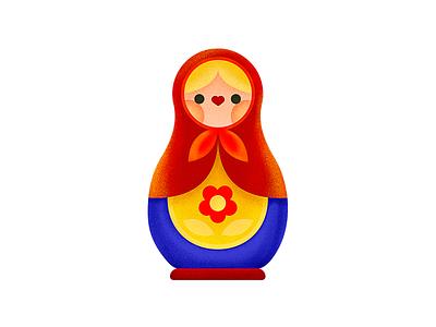 Matryoshka | Culture Magazine KALINKA russian doll illustrator russia illustration vector chibi cute kawaii