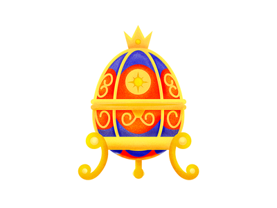 FABERGÉ EGG | Culture Magazine KALINKA sticker illustrator icon logo design illustration vector cute kawaii
