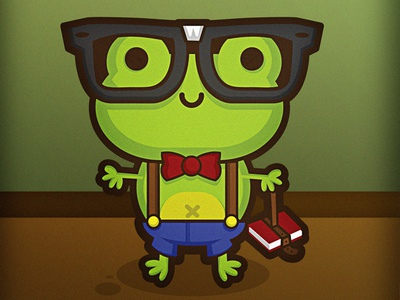 Hermes the Nerdy Frog