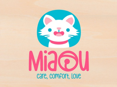 Miau Logo branding brand petshop logo kitty cat chibi cute kawaii