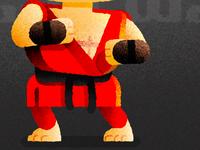 Ken Masters Detail 02 | Street Fighter II