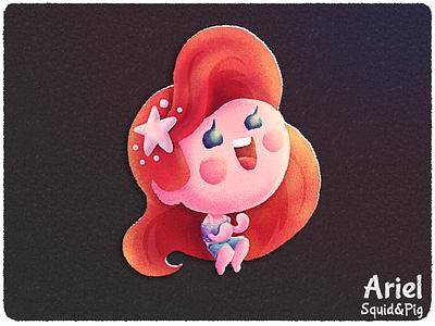 Ariel | Disney Princess old ralph breaks the internet the little mermaid disney chibi stickers cute kawaii