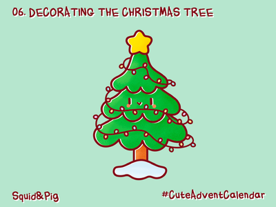 06. Decorating the Christmas tree #CuteAdventCalendar