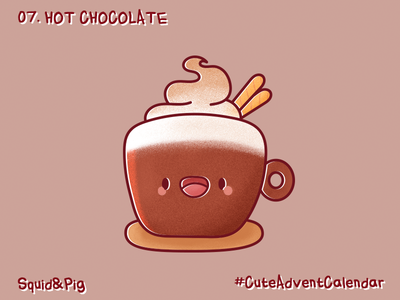 07. Hot Chocolate #CuteAdventCalendar