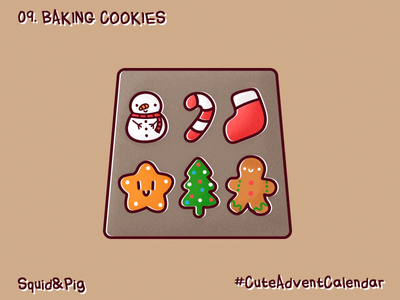 09. Baking Cookies #CuteAdventCalendar