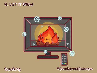 14. Let it snow #CuteAdventCalendar