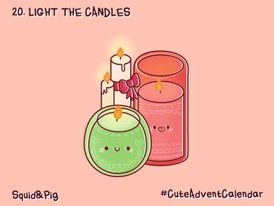 20. Light the candles #CuteAdventCalendar