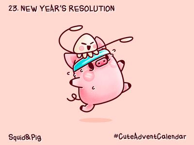 23. New year's resolution #CuteAdventCalendar