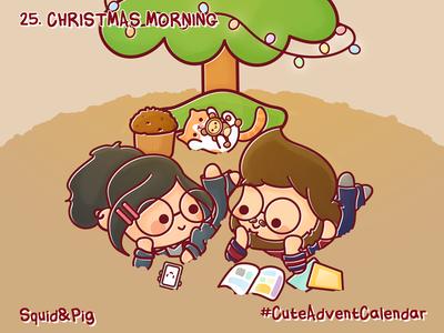 25. Christmas Morning #CuteAdventCalendar