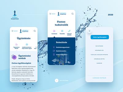 Budapest Waterworks Website Reconcept blue mobile design web design design water waterworks mobile mobile ui web ui