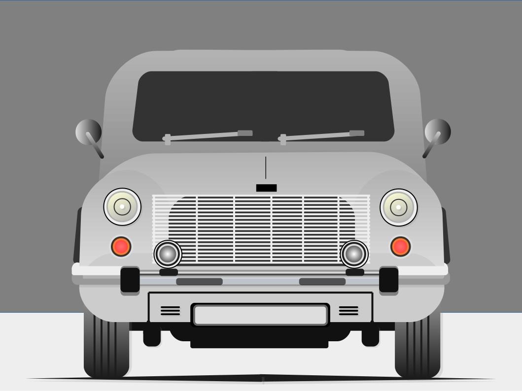 Ambassador (or an old bus) design illustration