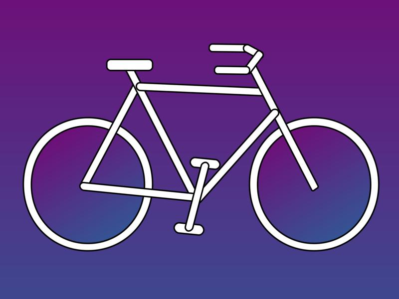 Bicycle design illustration