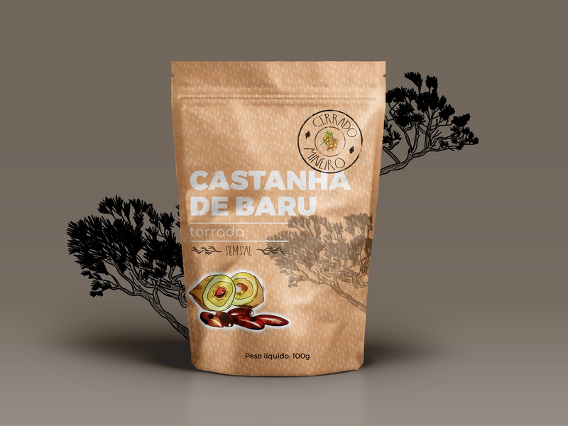 Castanha De Baru branding illustrator design packaging design package design packaging pack package
