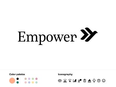 Brand Identity Refresh peach fintech iconography iconset icon palette mark logo identity finance brand