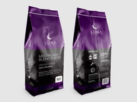 Luna Speciality Coffee packaging concept