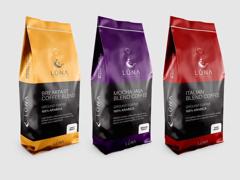 Luna Speciality Coffee packaging concept logo design graphic designer logopassion logoinspiration packaging packagingpro packaging design packaging mockup packagingdesign freelance designer designer logo freelance design creativity logo logodesign creative design freelancer graphic design graphicdesign