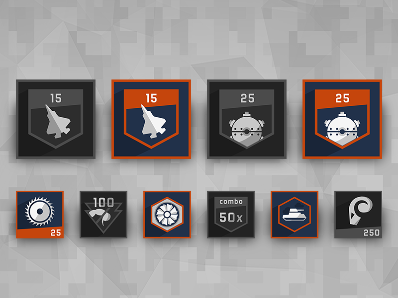 Achievement Icons - Furious Angels adobephotoshop photoshop videogame 2d 2dart gameart gamedev game achievements icon