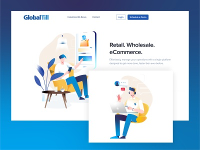 Retail vector graphic ecommerce design ecommerce retail branding ui character design design illustration