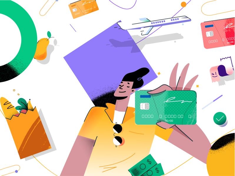 Character character flat creditcard graphic ui ux branding character design design vector illustration
