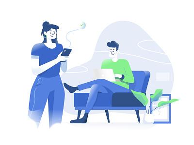 Responsive design insurtech insurance app website branding character design flat ux ui design illustration