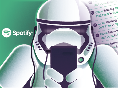 Clone using Spotify - Star Wars growth hacking vector books illustrations sm ilustración infantil cocografico character design star wars ebook graphic design illustration