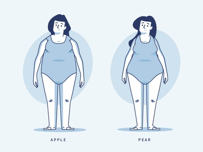 Androide / Ginoide design apple simple stroke health pear illutration disguise people woman ginoide