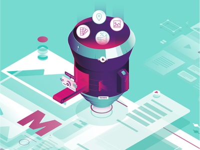 Herolens - Detail userinterface ux ui design animation ui flat graphic vector illustration