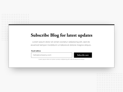 Subscribe Newsletter Form