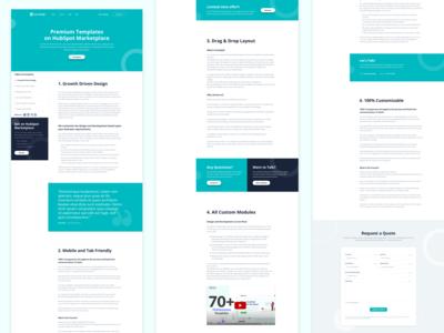 Pillar Page ui  ux uiux clean ui clean theme hubspot promotion add featured form nav fixed pillar branding content design content