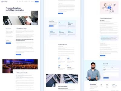 Pillar Page Light offer fixed uiux landing page ui hubspot featured promotion content branding website design website landing page